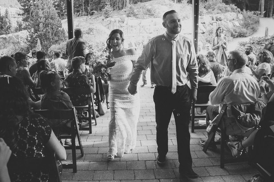 Shayne and I just after we became husband and wife.